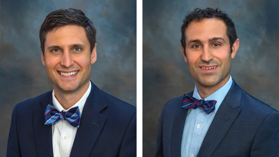 (l-r) Chad Armstrong, MD, Aaron Soufer MD