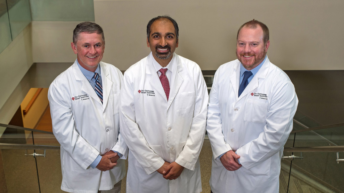 Drs. Richard Sprouse, Sachin Phade and Mark Fugate
