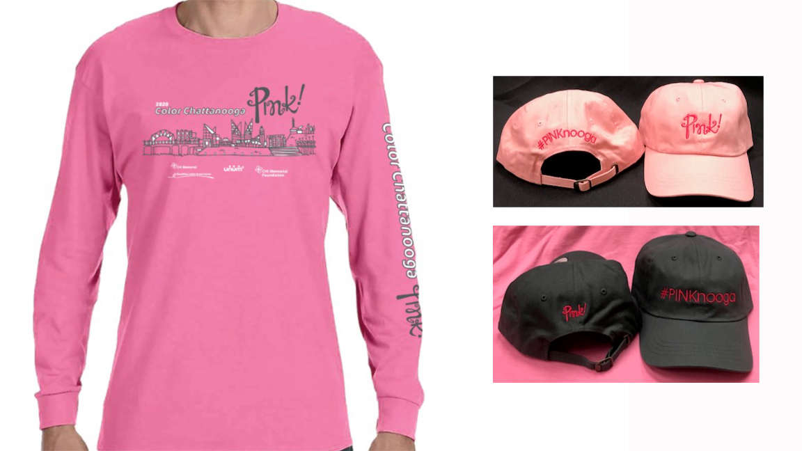 Color Chattanooga Pink! T-shirt and Hats 2020